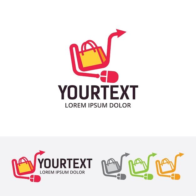Online shop vector logo template Vector | Premium Download