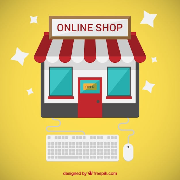 online shop vector free download