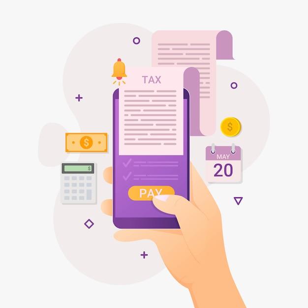Online shopping app mobile phone Premium Vector