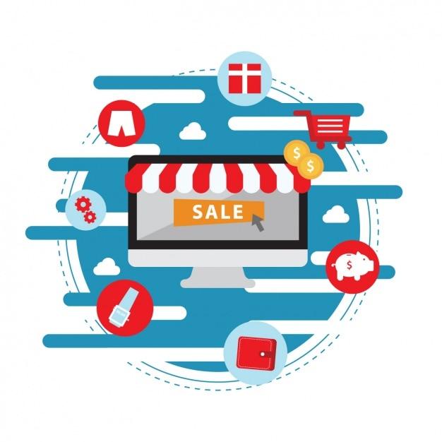 Download Vector Shopping Background Design Vectorpicker