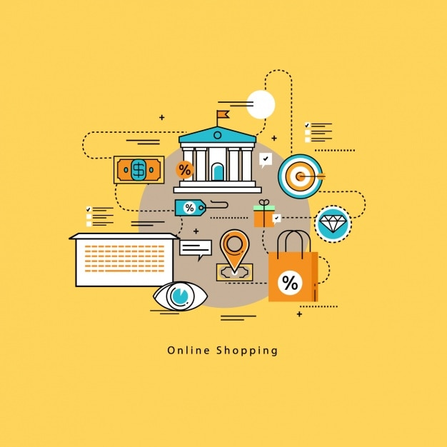 background of online shopping In 1994, advances took place such as online banking, after that, the next big development was the opening of an online pizza shop by pizza hut.