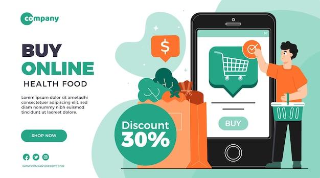 Modello di banner dello shopping online Vettore gratuito