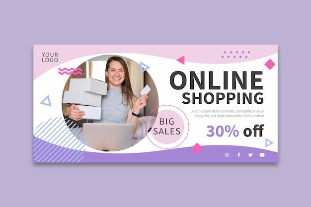Banner dello shopping online Vettore gratuito