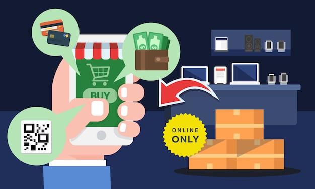 Online shopping concept Premium Vector
