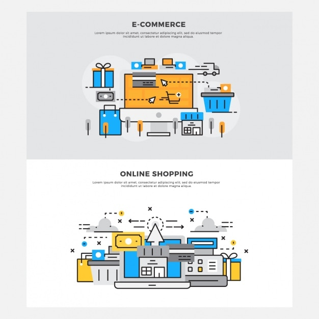 Online shopping designs vector free download for Design scandinavo shop online