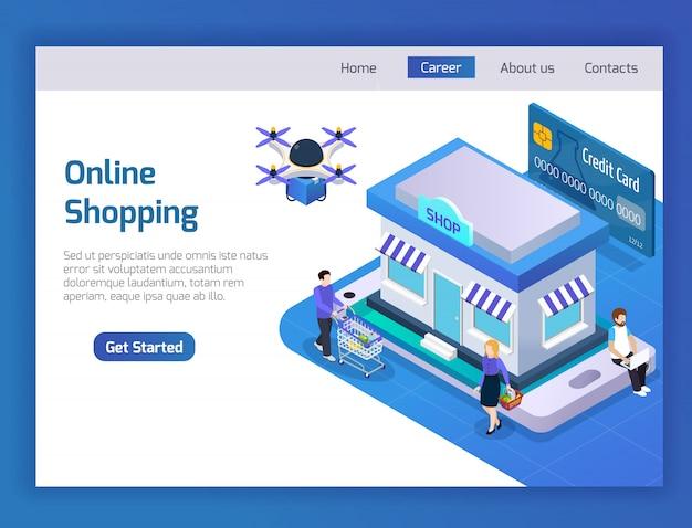 온라인 쇼핑 방문 페이지 무료 벡터