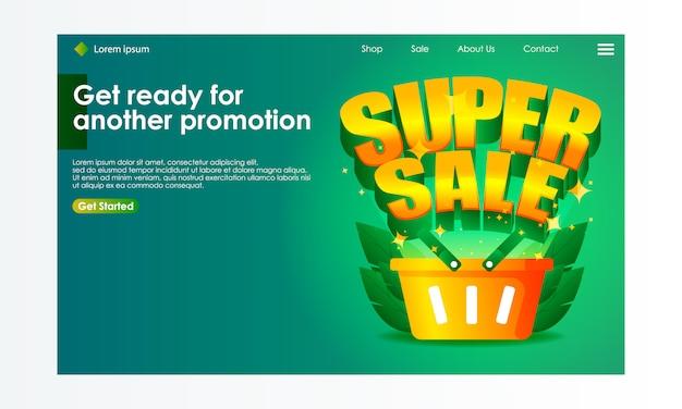 Online shopping sale illustration for landing page Premium Vector