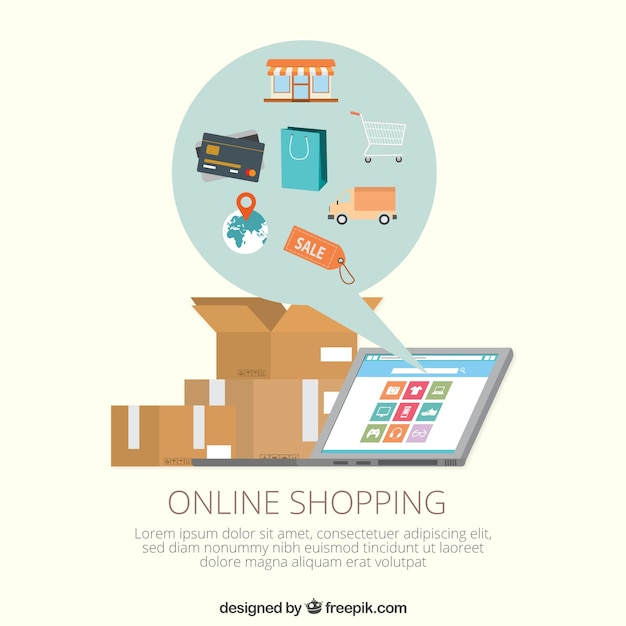 Online shopping template vector free download Online vector editor