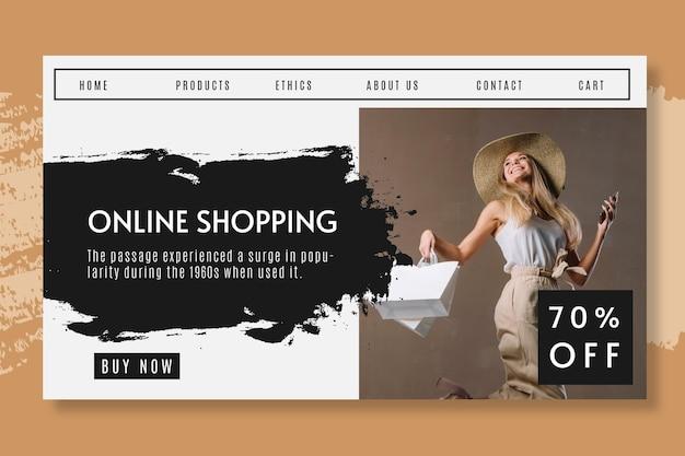 Интернет-магазины со скидкой на целевой странице Бесплатные векторы