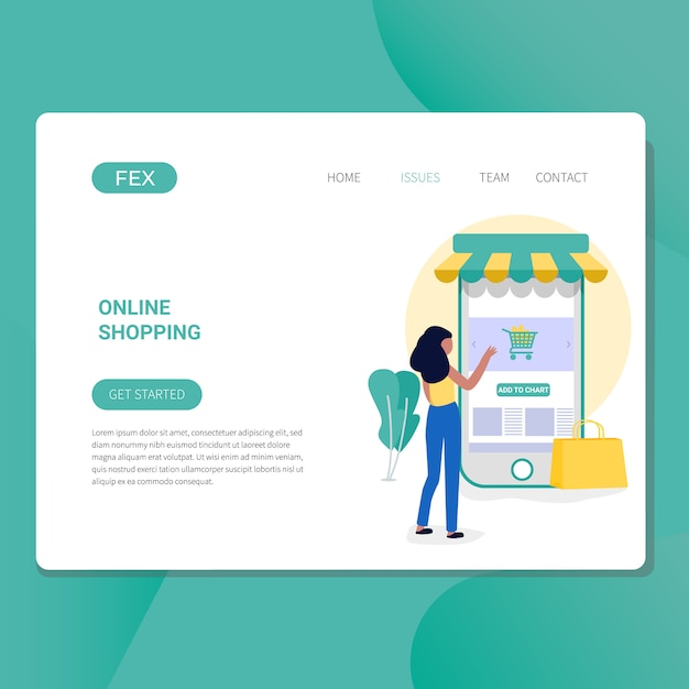 Online shopping Premium Vector