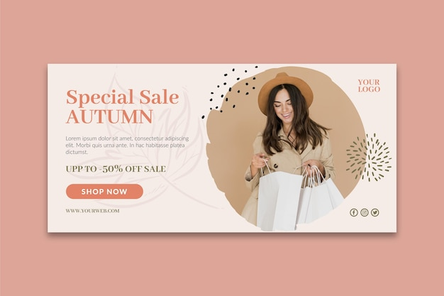 Online shoppings banners template Free Vector