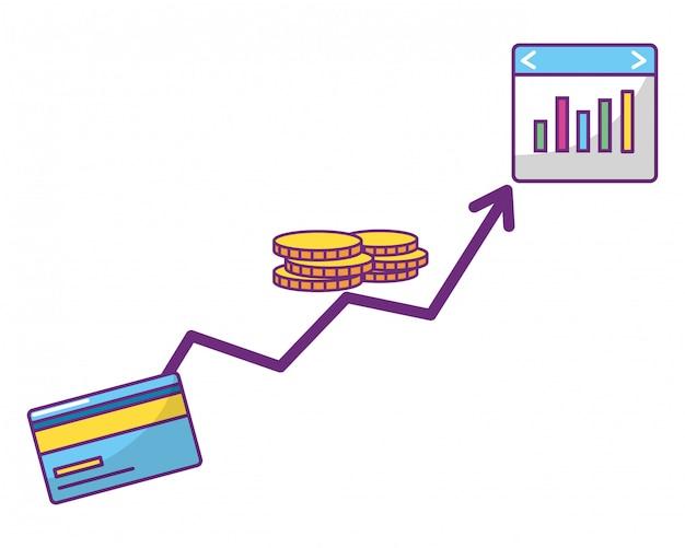 Online stock exchange Premium Vector