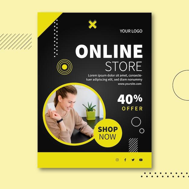 Интернет-магазин шаблон флаера а5 Бесплатные векторы