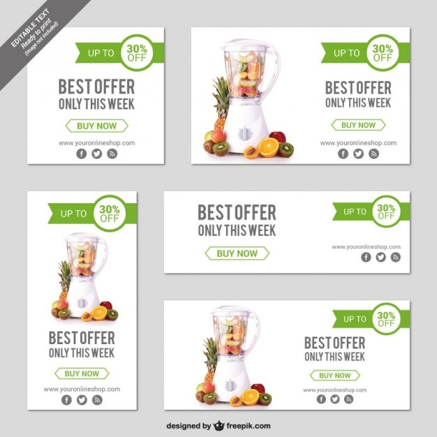 Online store banner templates Vector | Free Download