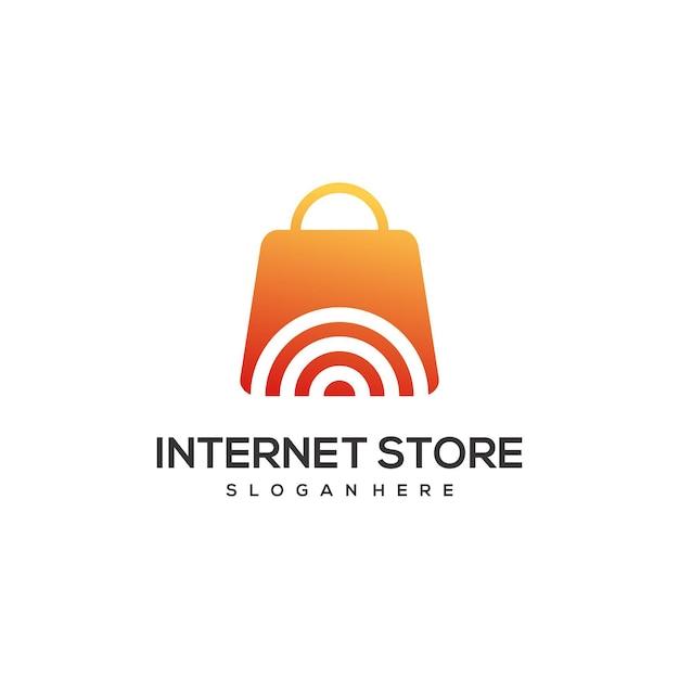 オンラインストアのロゴデザインテンプレート Premiumベクター