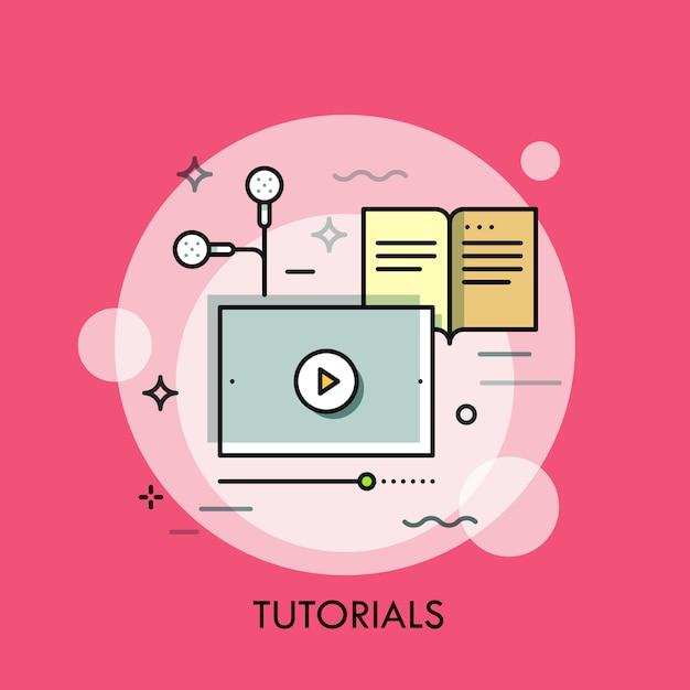 細い線図をオンラインで勉強 Premiumベクター