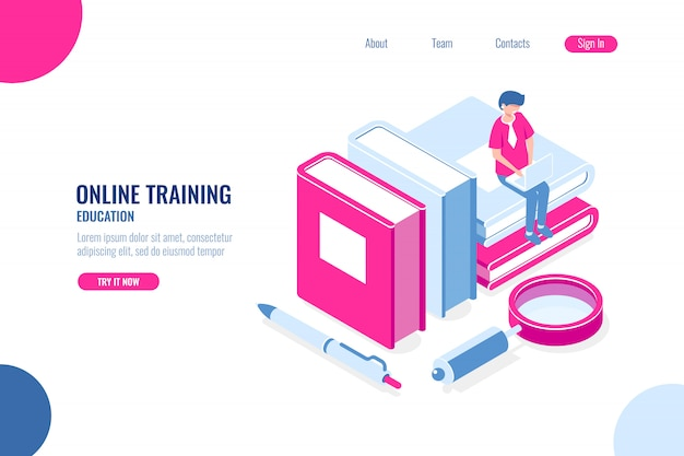 Online training, education Free Vector