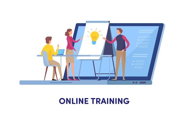 Online training Premium Vector