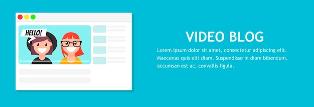 Online video chat with man. Free Vector