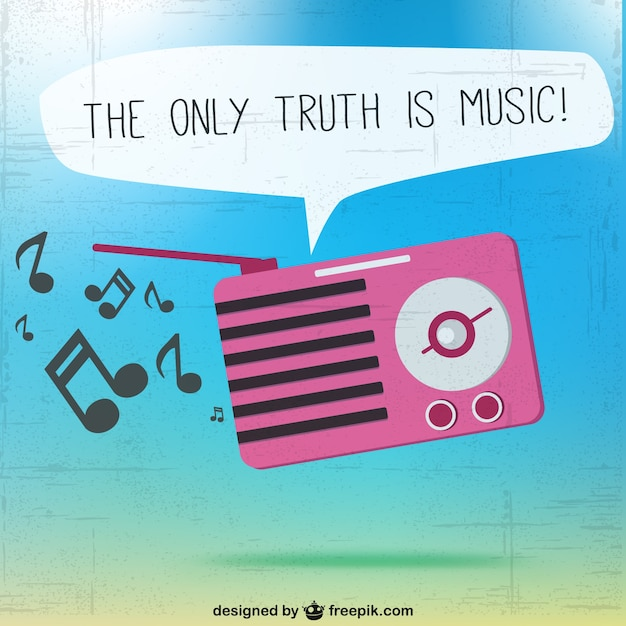 The only truth is music vector Free Vector