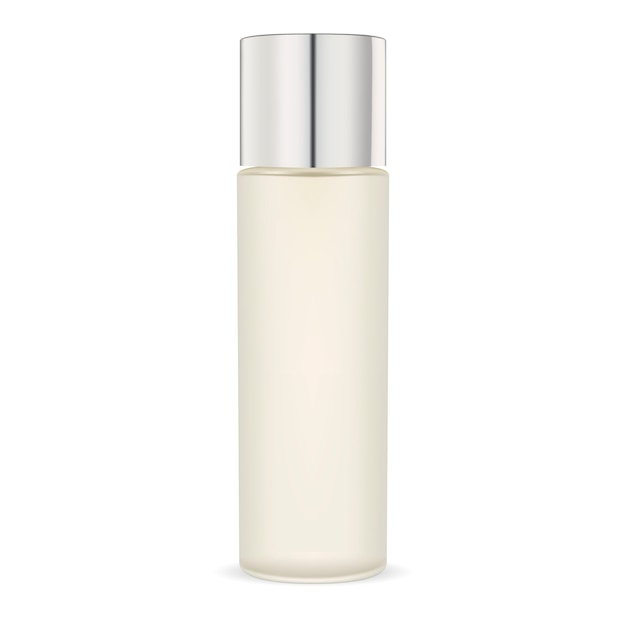 Opaque glass moisturizer cosmetic bottle. package Premium Vector