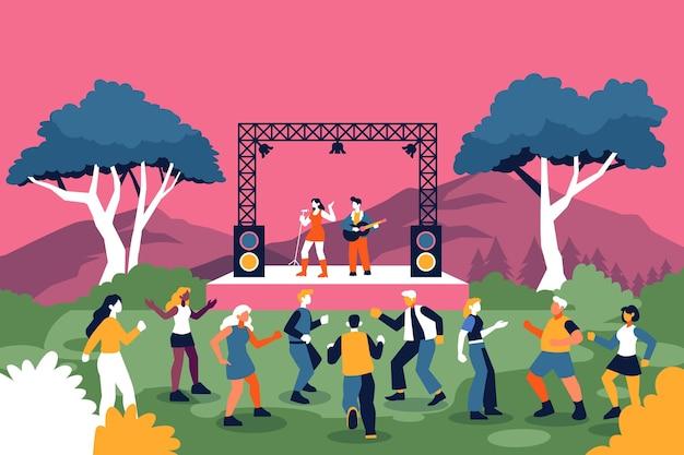 野外コンサート Premiumベクター