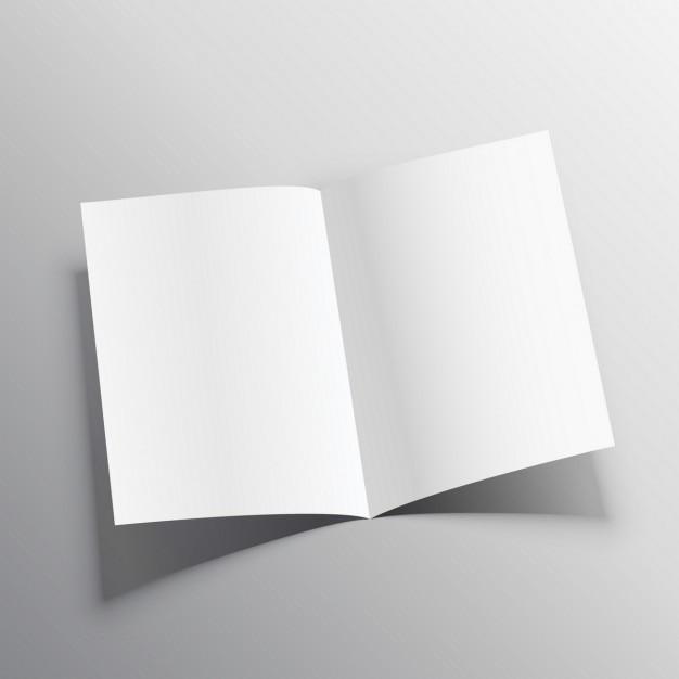 Open brochure, mockup Free Vector