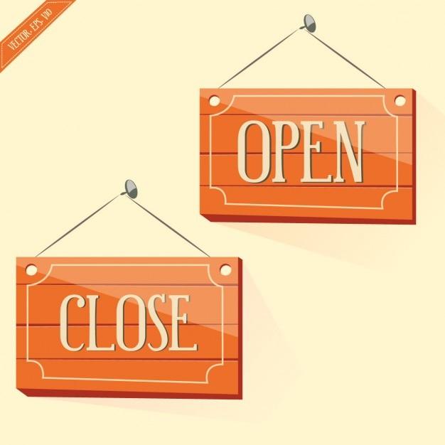 Segnali di apertura e chiusura Vettore gratuito