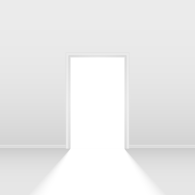 Open door Premium Vector