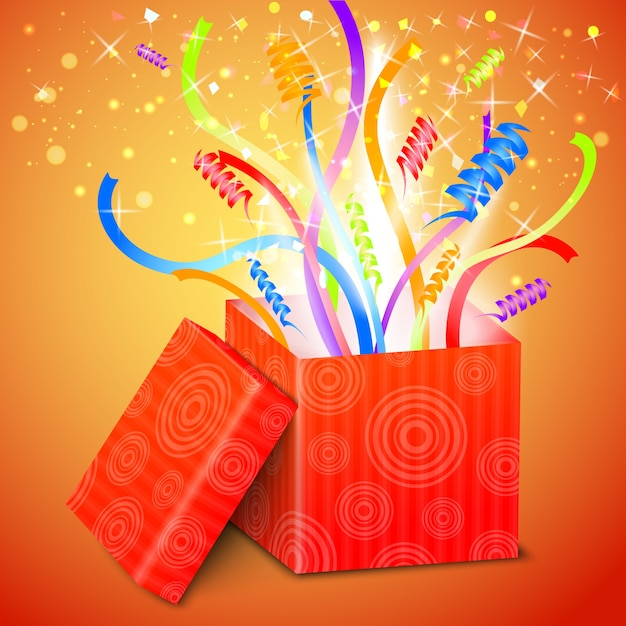 Open gift box Free Vector