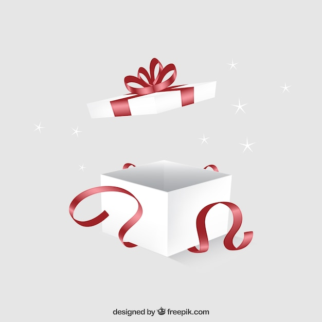 Open gift box Premium Vector