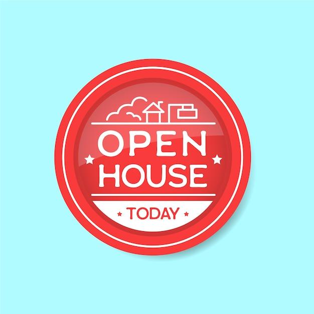 День открытых дверей сегодня Бесплатные векторы