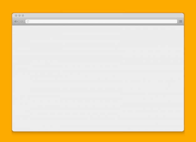 Open internet window browser blank background. Premium Vector