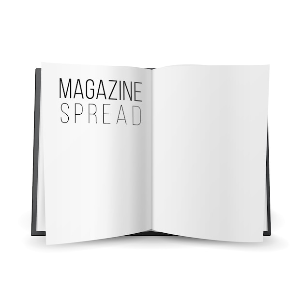 Open magazine spread blank vector Premium Vector