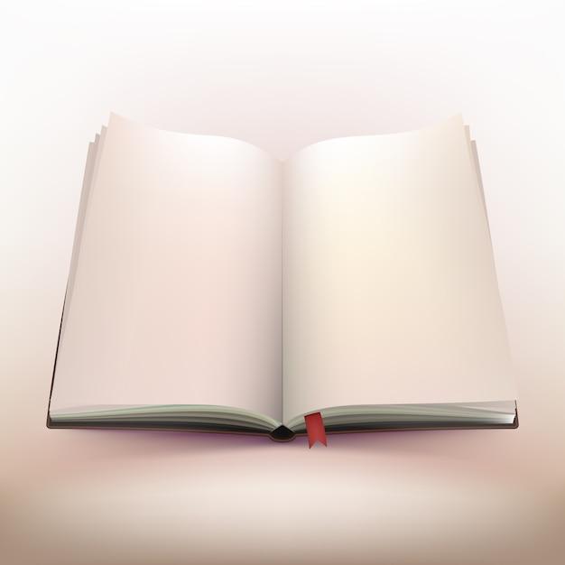 Open notebook 3d design Бесплатные векторы