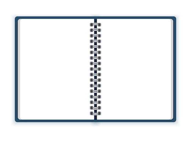 Open spiral notebook Premium Vector