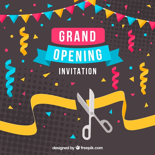 Opening vectors photos and psd files free download opening celebration background with confetti stopboris Choice Image
