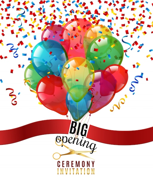 Opening ceremony invitation background Free Vector