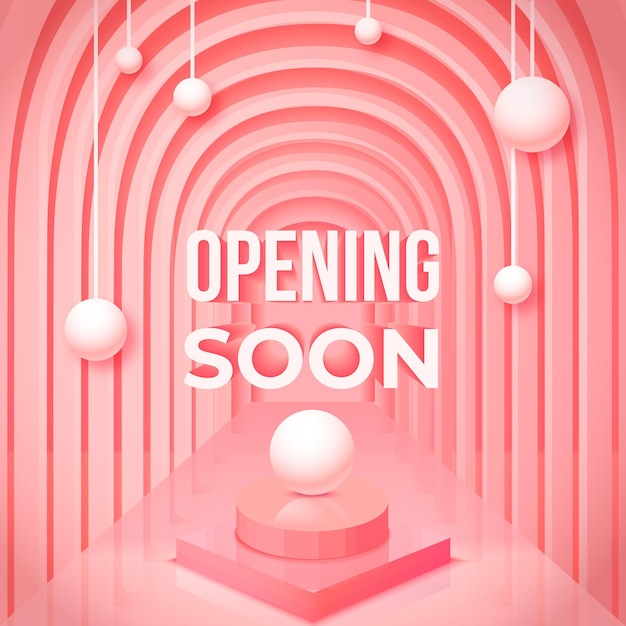 Opening soon 3d background Free Vector