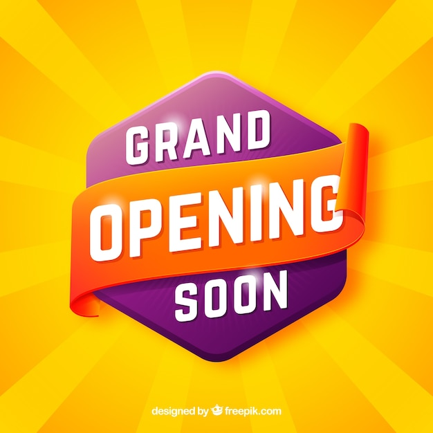 Opening soon background in 3d style Free Vector