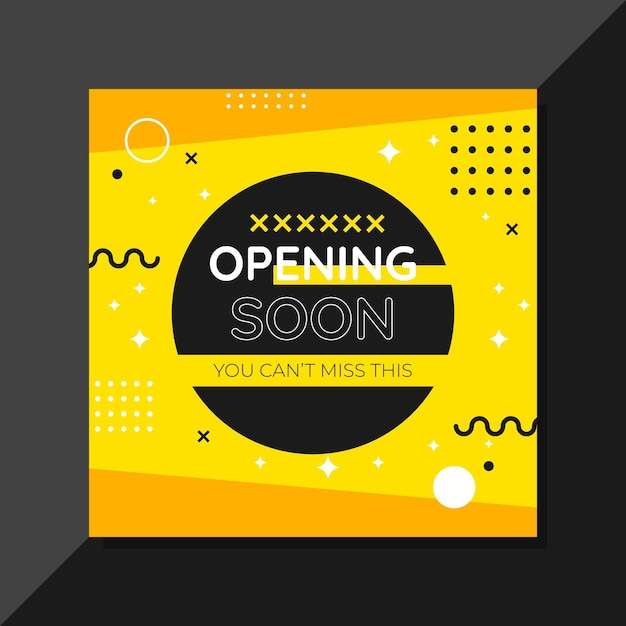 Opening soon background design | Free Vector