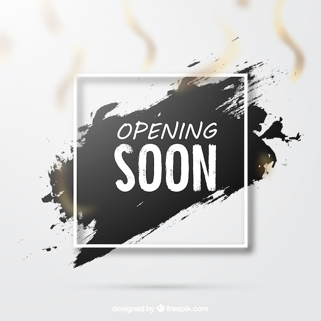 Opening soon background in grunge style Free Vector