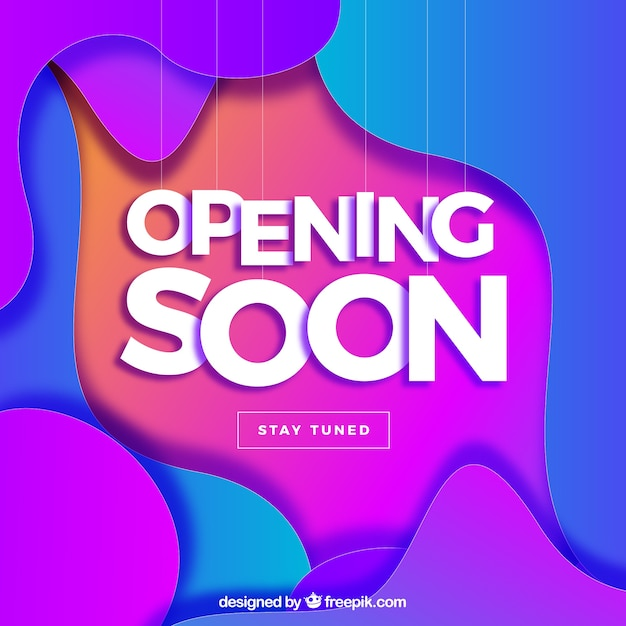 Opening soon background in gradient\ colors
