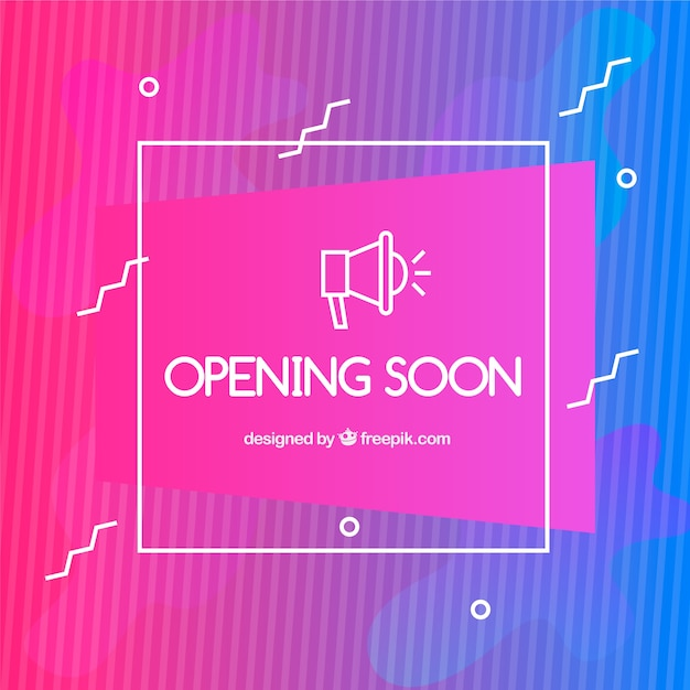 Opening soon background in gradient\ style