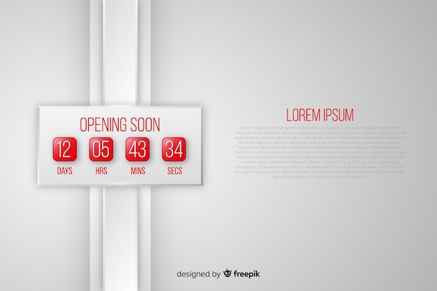 Opening soon background in realistic style Free Vector