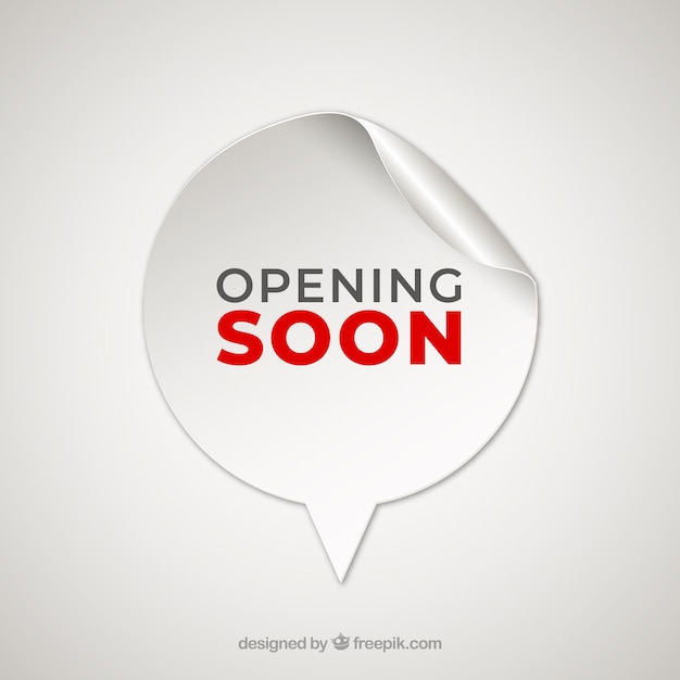Opening soon background with sticker Free Vector
