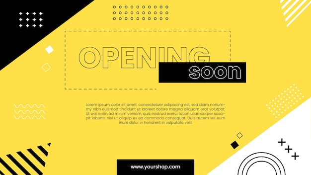 Opening soon background Free Vector