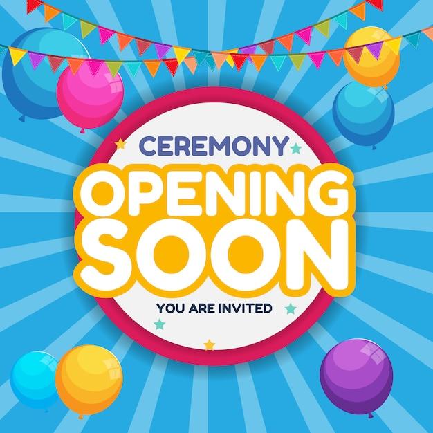 Opening soon invitation card Premium Vector