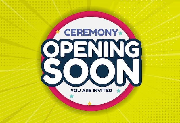 Opening soon invitation card. Premium Vector