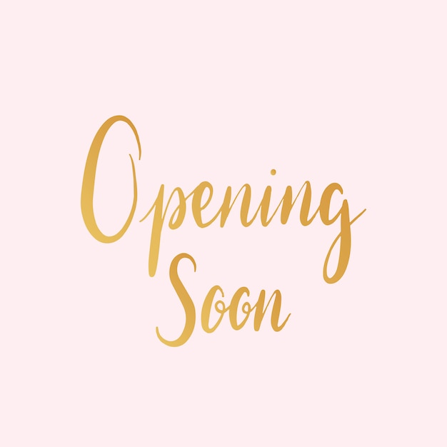 Opening soon typography style vector Free Vector